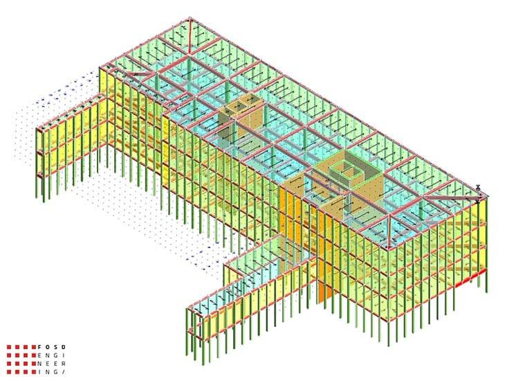 Fosd Engeneering Ingegneria Legno Calcolo Strutturale Progettazione Progetti 2014 Edificio direzionale Torino(7)