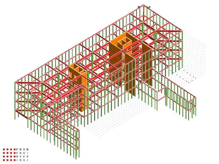 Fosd Engeneering Ingegneria Legno Calcolo Strutturale Progettazione Progetti 2014 Edificio direzionale Torino(8)