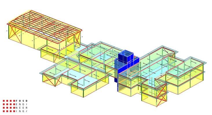 Fosd Engeneering Ingegneria Legno Calcolo Strutturale Progettazione Progetti 2018 scuola collodi ancona20