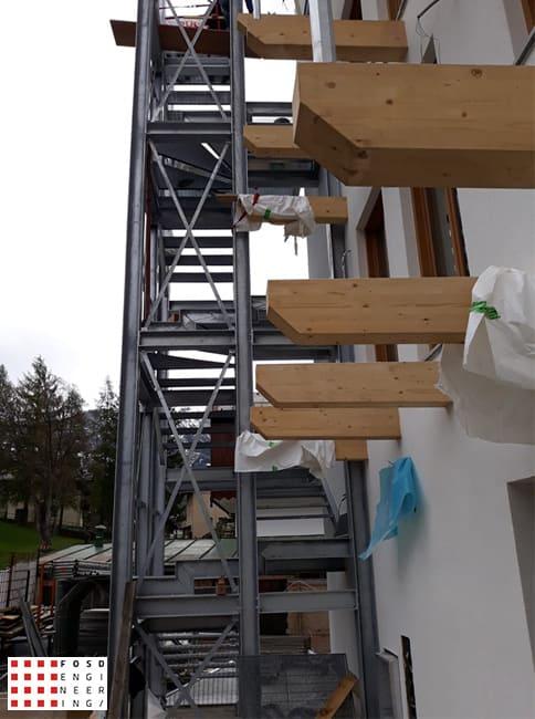 Fosd Engeneering Ingegneria Legno Calcolo Strutturale Progettazione Progetti 2019 scala di sicurezza hotel1