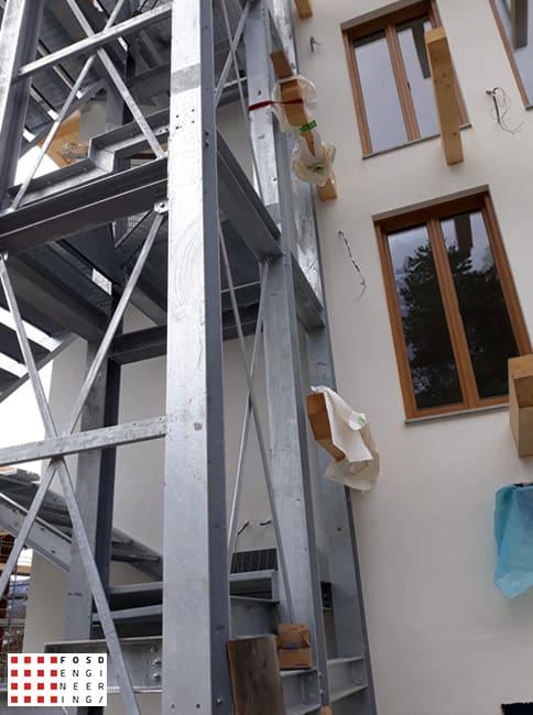Fosd Engeneering Ingegneria Legno Calcolo Strutturale Progettazione Progetti 2019 scala di sicurezza hotel3